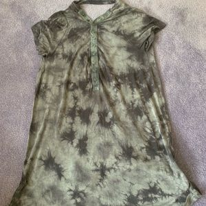American Eagle Tie Dye Snap Button Front Open Back